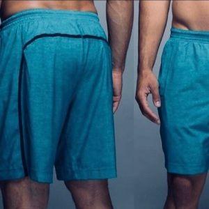 Lululemon Men Pace Breaker Lined Shorts Large Teal